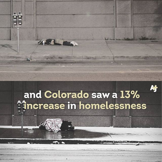 Homeless man sleeps in same spot every night. The top was taken by me in Denver, July 2015 and the bottom was in a video today on Facebook. Such an impact full image. Stay warm out there. #photography #denver #homeless #photo #cold #truth #thenandnow