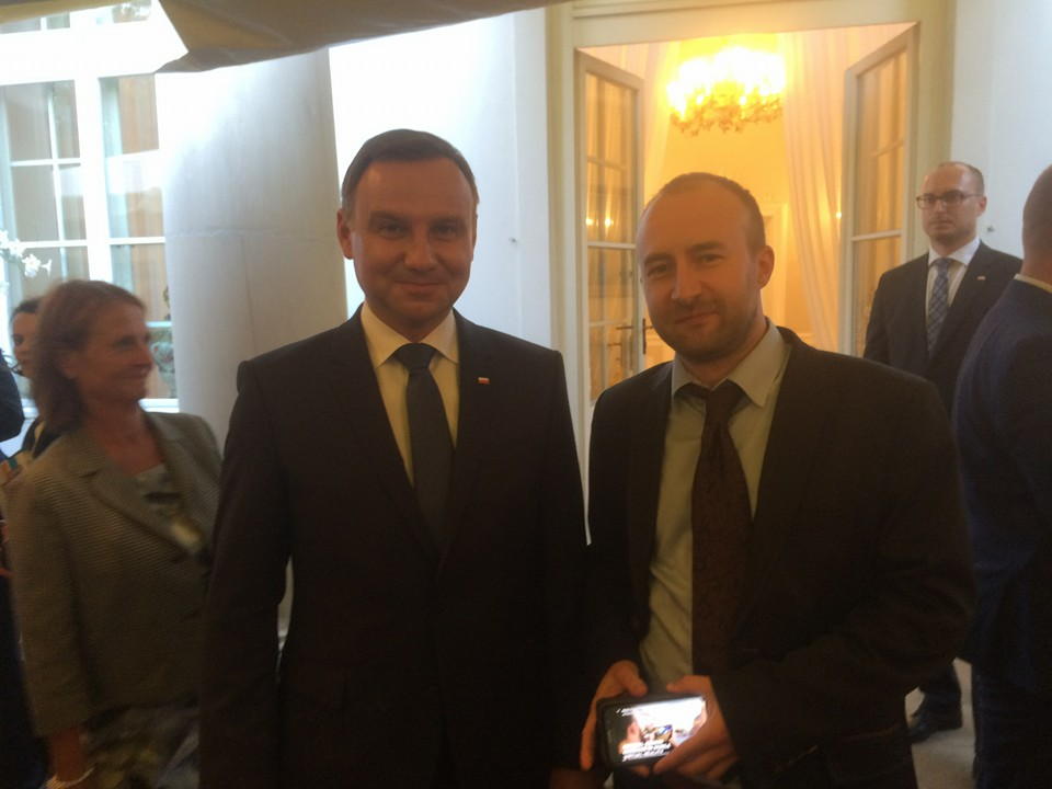 Jan Filipowiak (CEO) with Andrzej Duda - President of the Republic of Poland