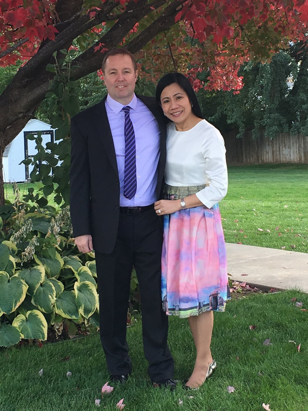 Pastor Patrick & wife Aura - together in the ministry, serving the Lord.