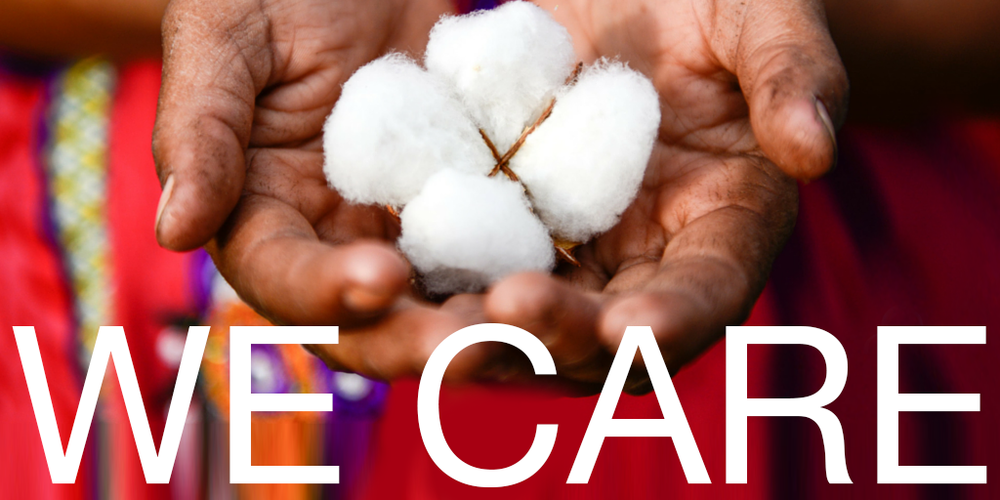 we care.png Organic cotton, chemical free
