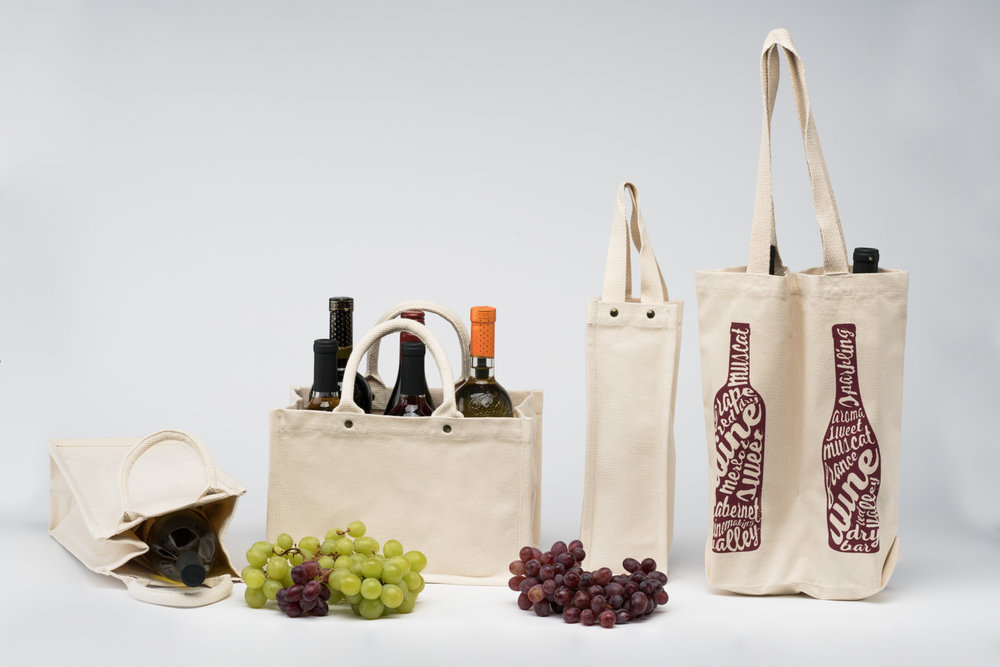 Organic Cotton Wine Bags