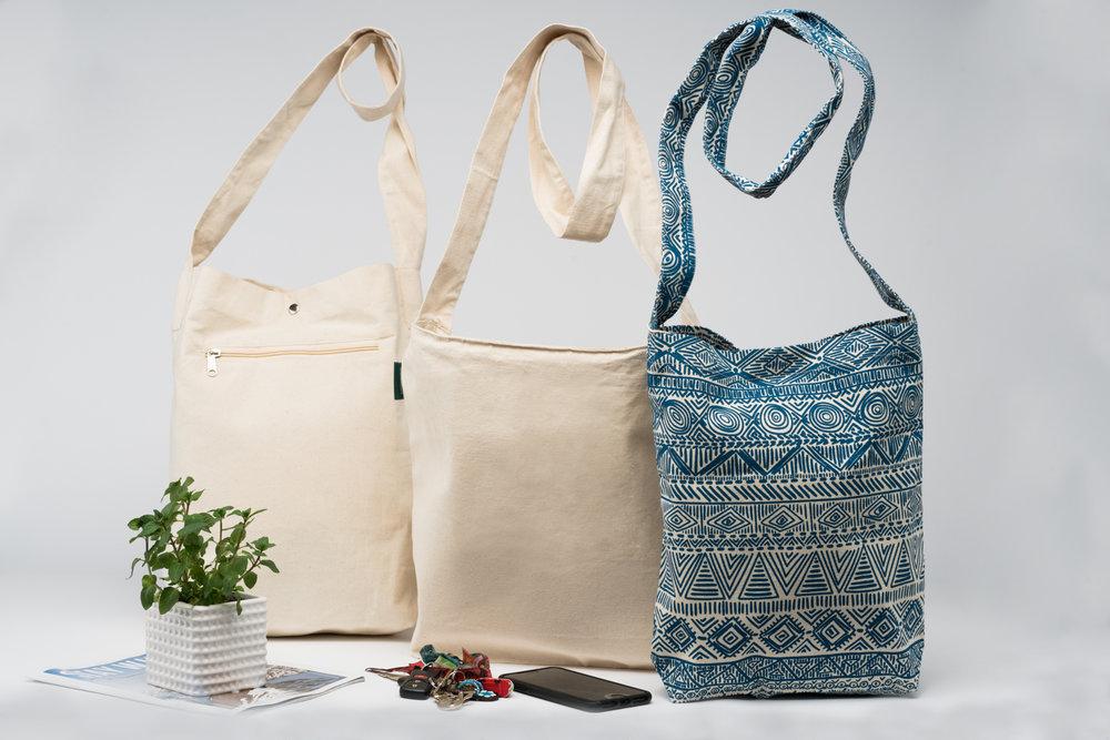 Organic  Cotton Cross body bags