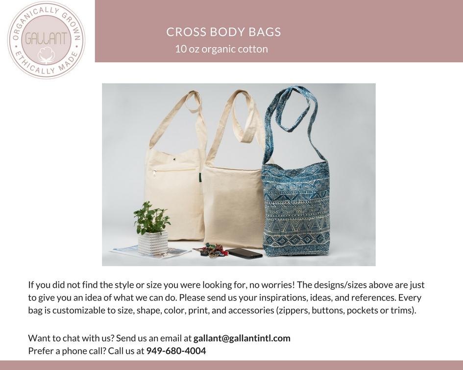 custom cross body bags