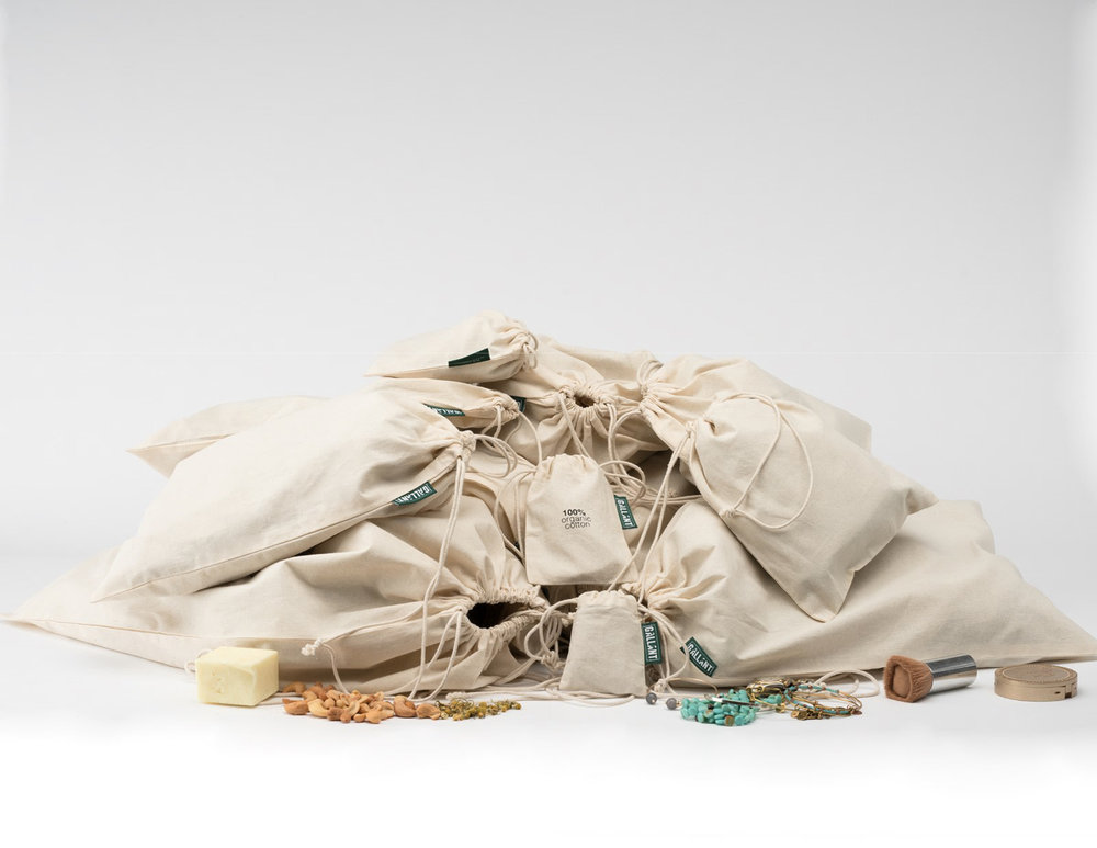 Organic cotton muslin bags can be used to package your products.