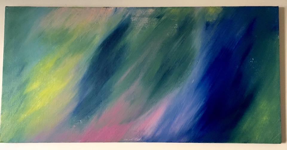 "Aquaria - Acrylic on canvas (40x20"") - SOLD"
