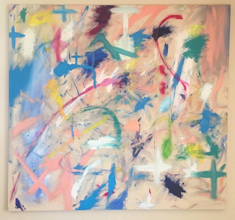 """Positivity - Acrylic on Canvas (58x64"""") - SOLD"""