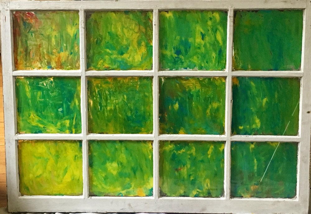 """Other - Acrylic on glass (39x27"""")- $300"""