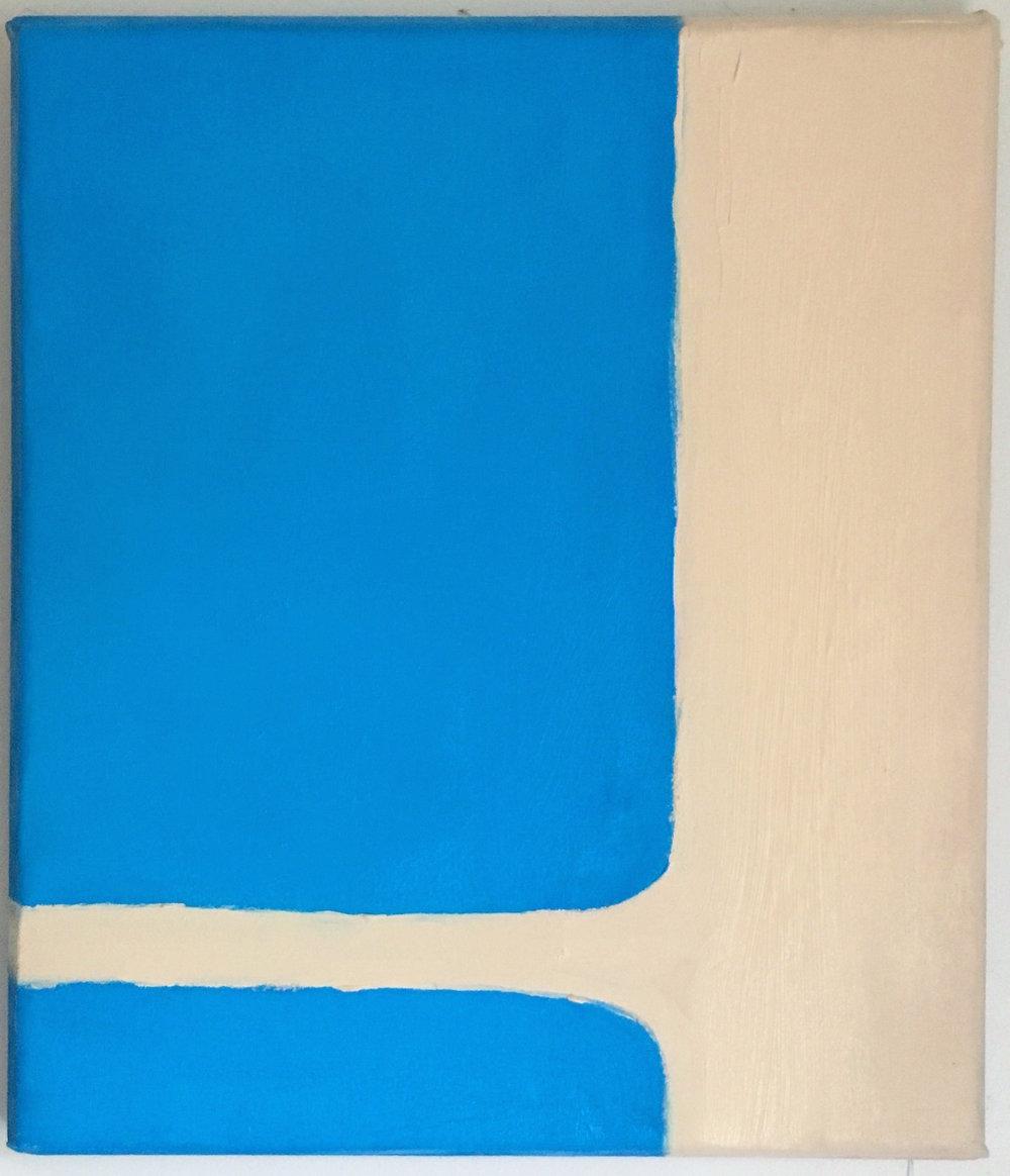 "Touch - Acrylic on canvas (19x22"") - $200"