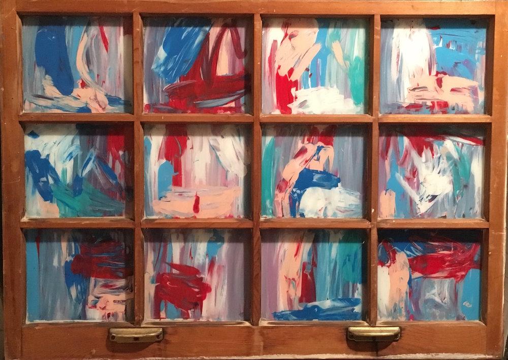 """Truth - Acrylic on glass (39x27"""") - $300"""
