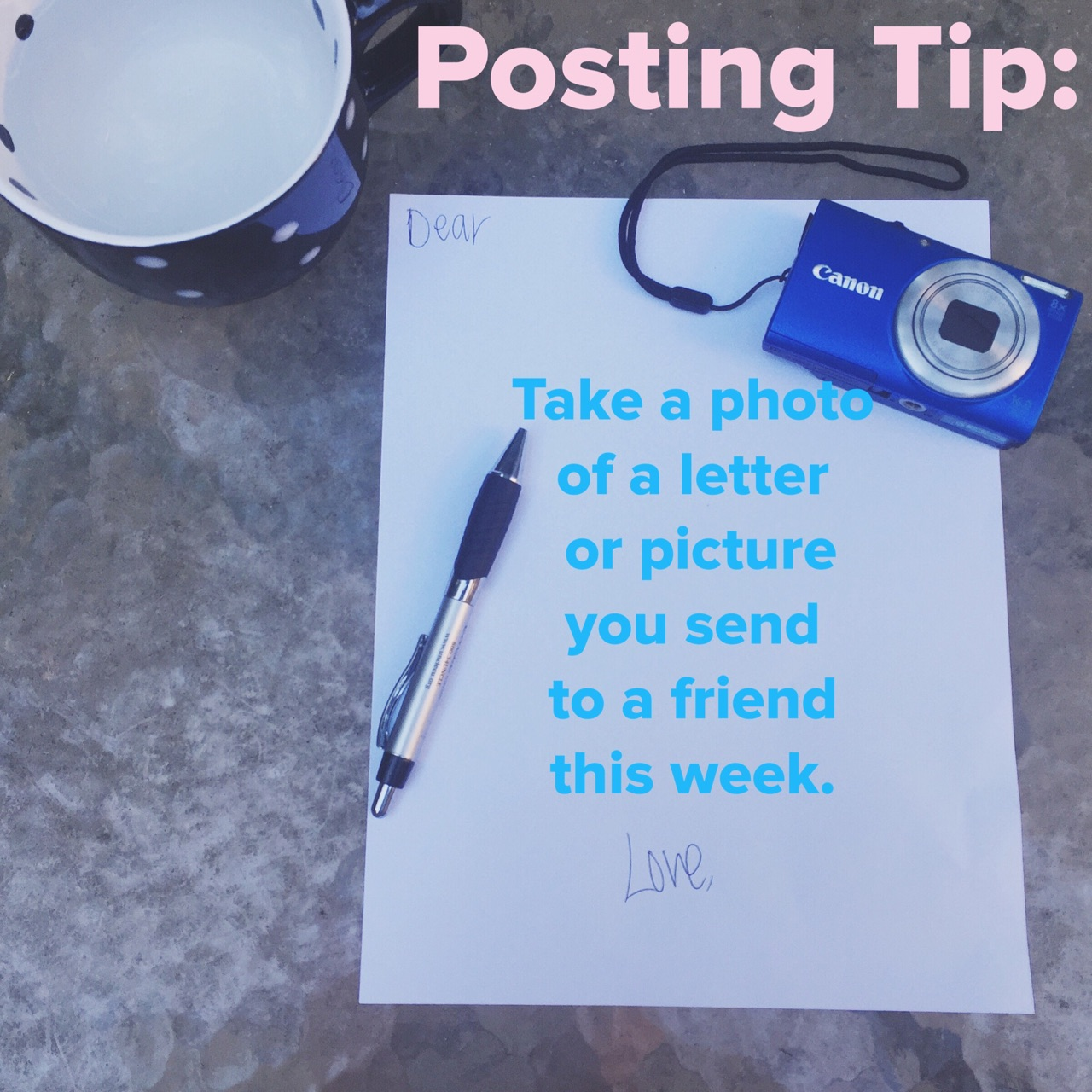 posting tip photo letters