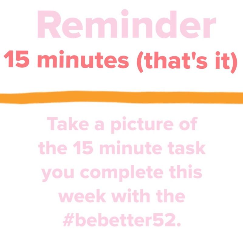 15 mins reminder