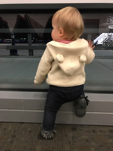 Favorite thing are airplanes, so the airport was her happy place
