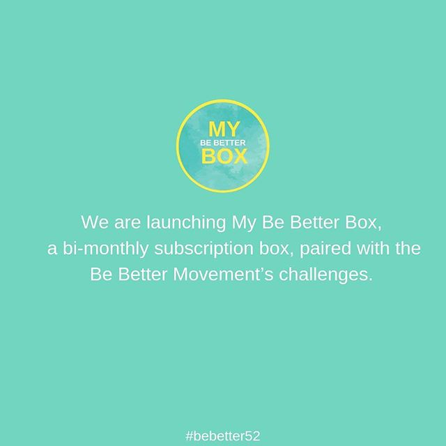 "BIG NEWS ALERT: We are so excited to announce that early November we will be launching My Be Better Box, a bi-monthly subscription box, paired with the Be Better Movement's challenges. The first box will be delivered in time for the holidays and New Year's resolutions. Just think the perfect gift for all the women in your life. . . . We are super excited because our box idea was accepted into a six-week Cratejoy Accelerator program. Hundreds applied. They choose 59 companies…and ours was one of them. We are three weeks into the program. . . . So, spread the word about @mybebetterbox. Tag a friend who might be interested in a ""unique subscription box experience that encourages action, invites you into a community and is committed to a cause.""❤️ Also, when you sign up to learn more you can nominate a woman in your life to win a free year of boxes. . . . #subscriptionbox #selfcare #selfimprovement #maternalhealth #postpartumbody #healthgoals #motivated #bebetter #giveback #wellness  #holidaygifts"