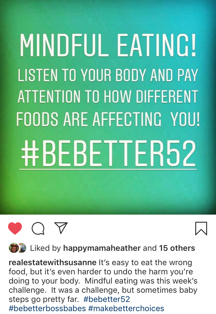Love the caption by Susanne - from Team Be Better Boss Babes