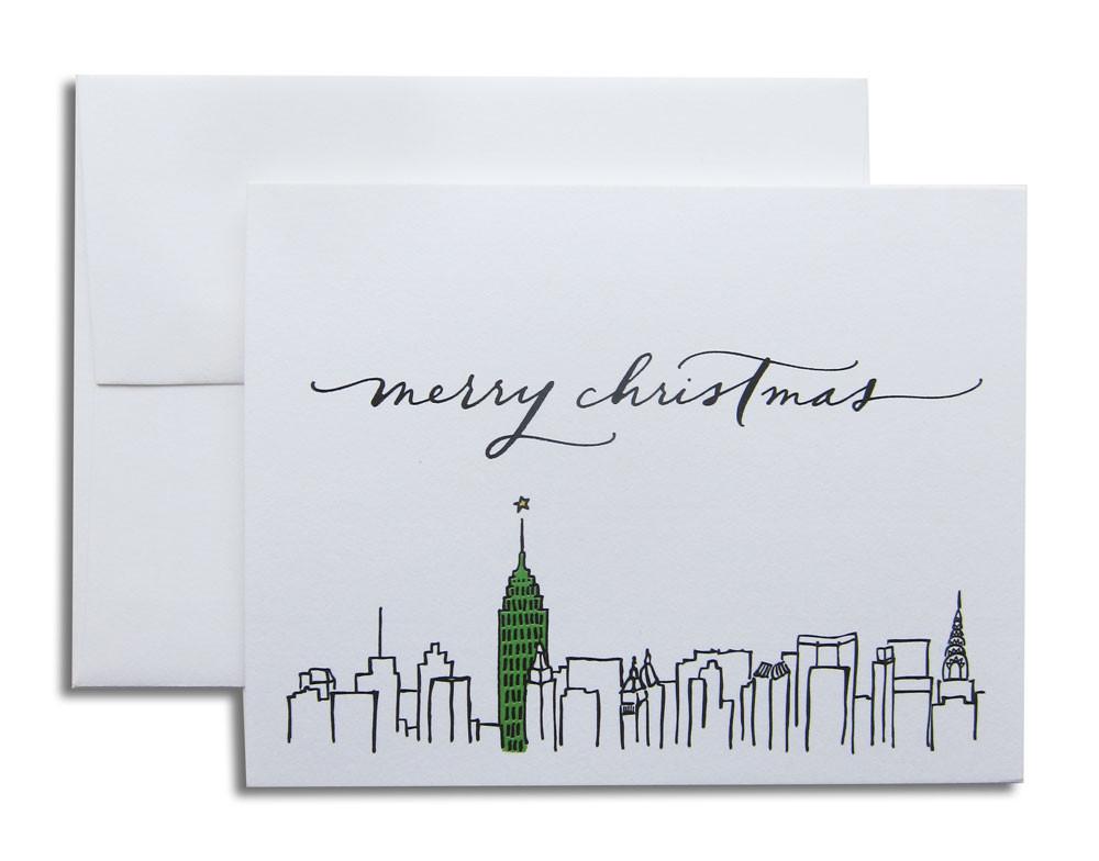 New York Skyline - Christmas Cards (Set of 6) — Paperfinger