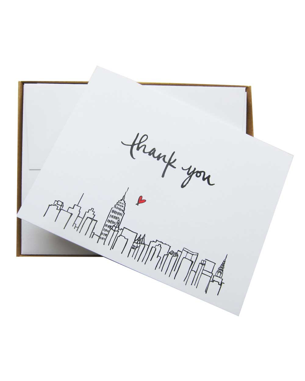 New York Skyline - Thank You Cards (Set of 6) — Paperfinger