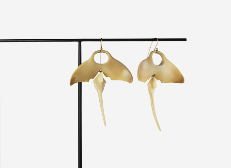 Vegetable Ivory Earrings by Ted Muehling