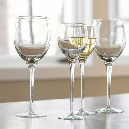 Recycled wine glasses; set of six $149