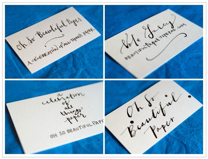 Outstanding Handwritten Business Cards Gift - Business Card Ideas ...