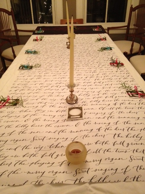Delightful Look How My Momma Gets Creative With The Paperfinger Wrapping Paper On Her  Holiday Breakfast Table!