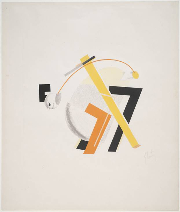 8. Old Man (Head 2 Steps behind) 1923 by El Lissitzky 1890-1941