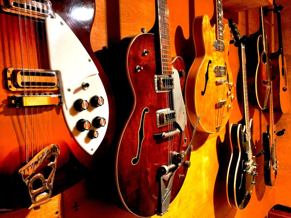 A small selection from the Subphonic Vintage Guitar Collection