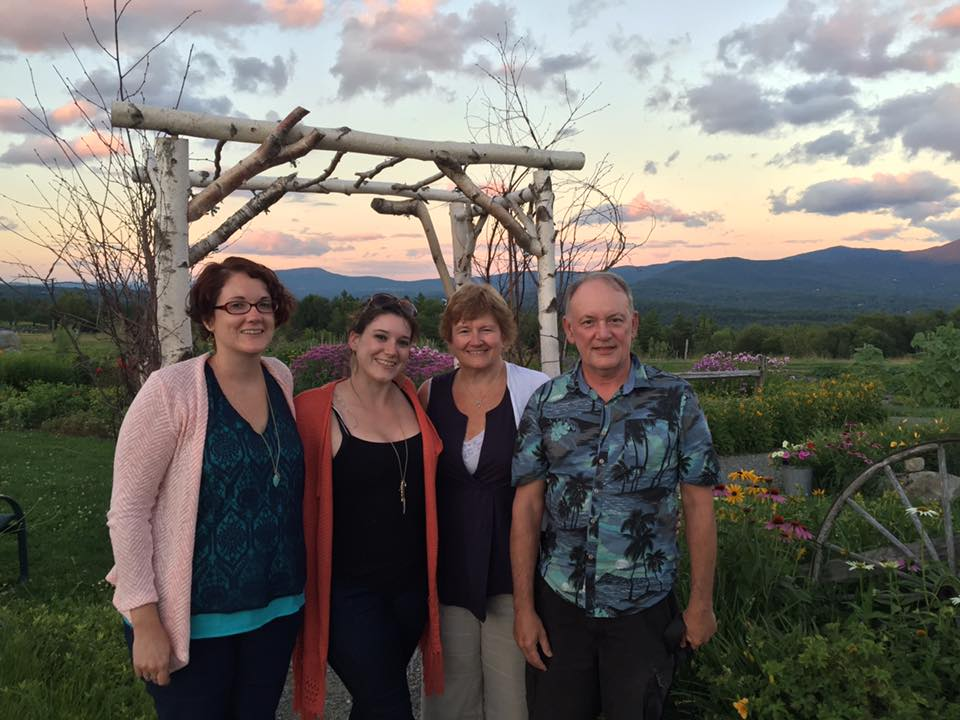 My family in the gardens at Trapp Family Lodge