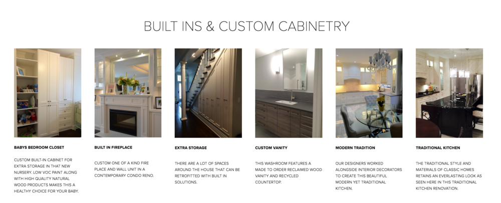 Custom Cabinetry Options