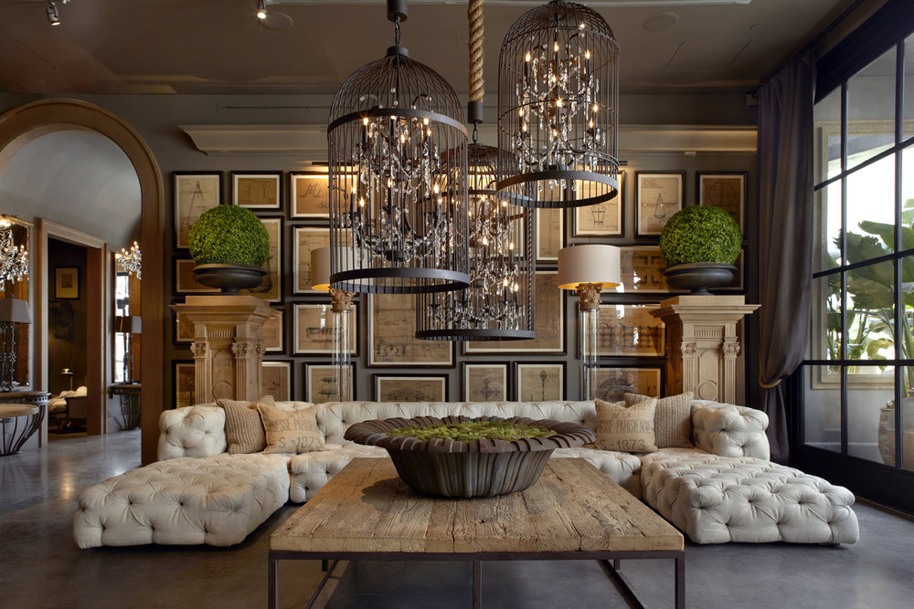 Inside a Restoration Hardware showroom experience