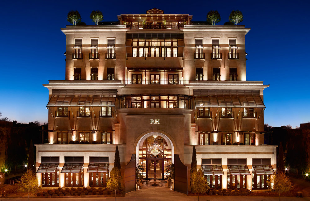 This is a Restoration Hardware store. Imagine what a hotel would be like.