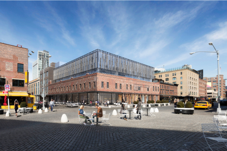 Render of the proposed Restoration Hardware boutique hotel in Ganesvoort Street, Meatpackers