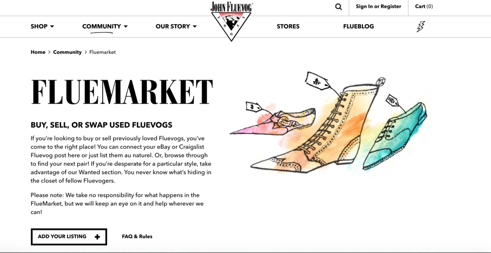 Flumarket - having a hand in the way your product is resold and re-loved