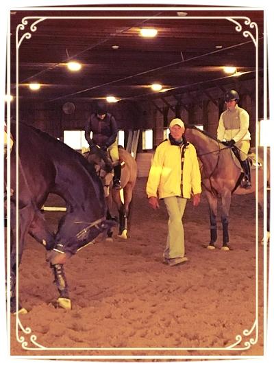 Joe Fargis quizzes riders on the horses anatomy