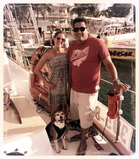 All dogs should go boating in Key West, Florida