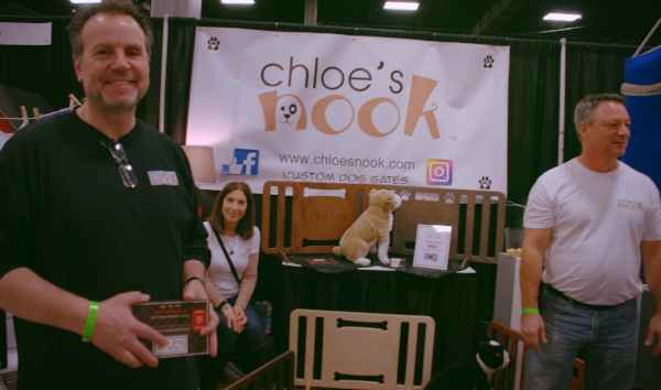 Customize your dog gate with Chloe's Nook.