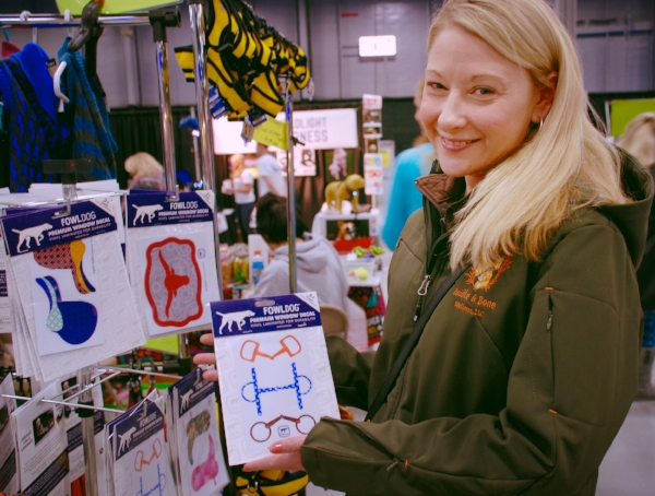 Danelle Stukas, my partner, shops for Fowl Dog decals. Which to choose?