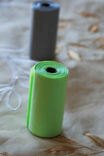 Mynetpets poop bags in green, are 15 micron thick and keep your hands clean while picking up after your pet.