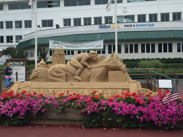 Monmouth Park Racetrack in Long Branch, NJ featured Triple Crown winner American Pharaoh in the Haskell Invitational in 2016.