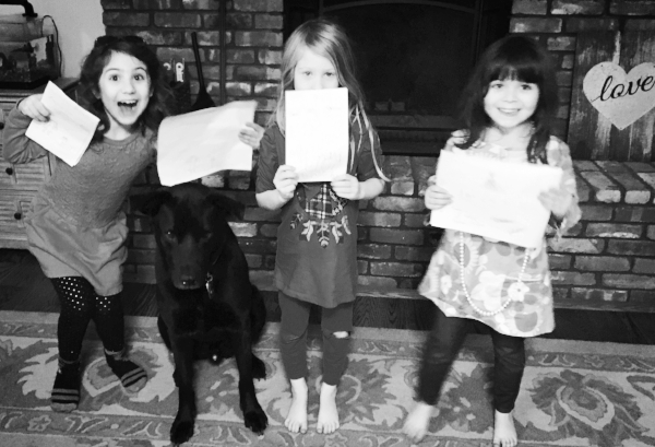 "Gonzo gets handmade birthday cards from his ""sisters""."