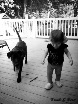 A girl and her dog. Summer 2012.