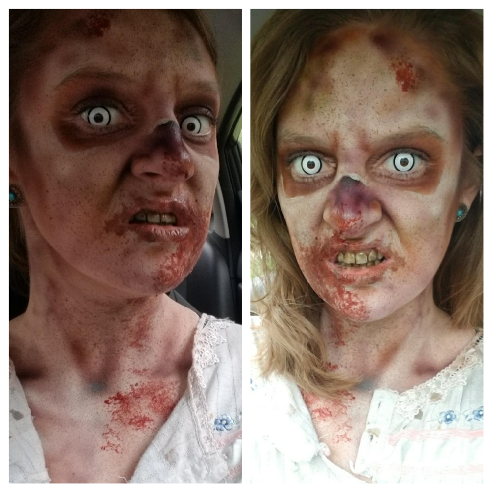 Morgan Dayton in Zombie makeup by me