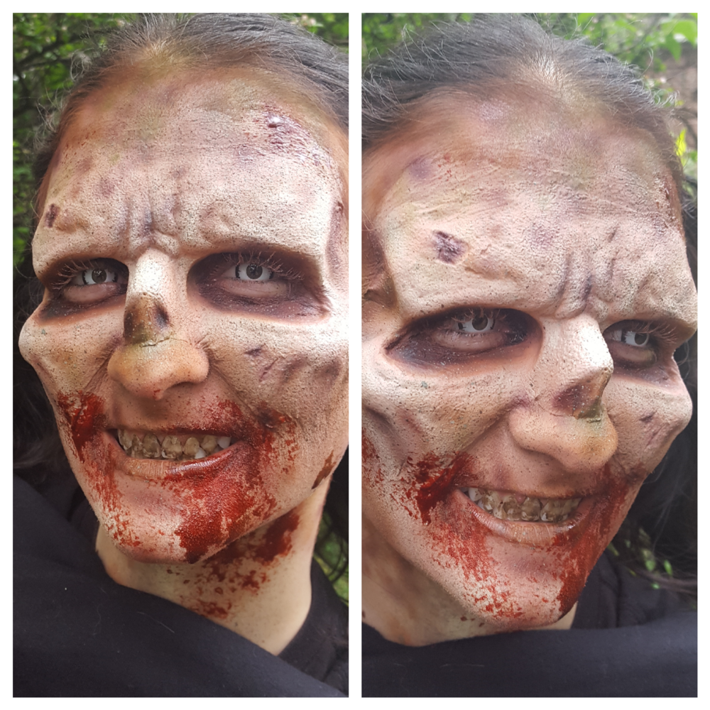 Rebecca Rhodes in Zombie makeup by me