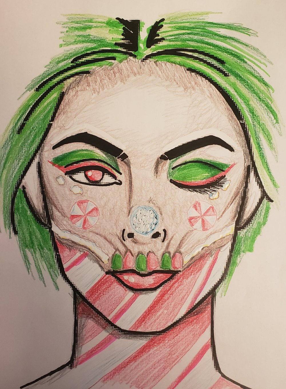 Rough Sketch of my Makeup