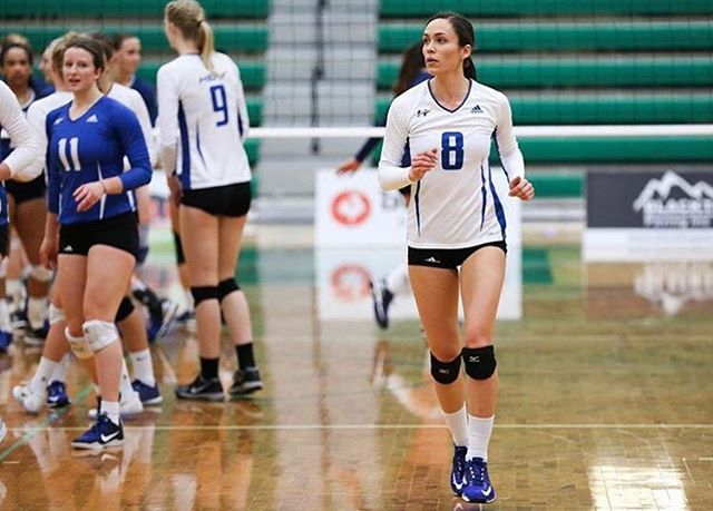 Name: Kaitlynn Given @kaitgives  Years Played: 11 Hometown: Kelowna  University: UBCO Position: Right Side  Uniform # 8 #thevolleyblog