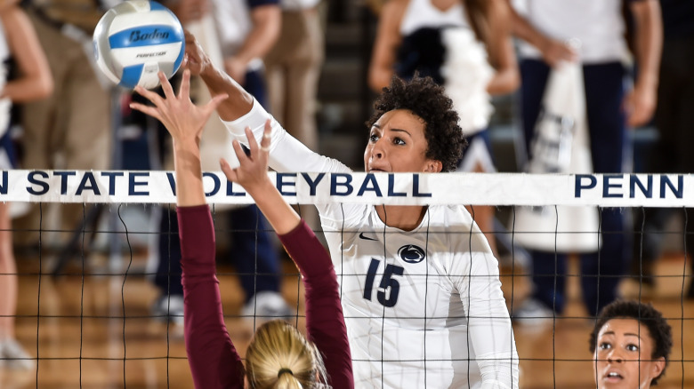 Described as a consistent presence for the Nittany Lions – Haleigh Washington was named the AVCA National Player of the Week and the Big Ten Player of the Week. Click to read more through NCAA.comPhoto from Penn State Athletics.