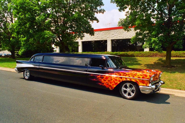 total luxury limousine custom 57 chevy