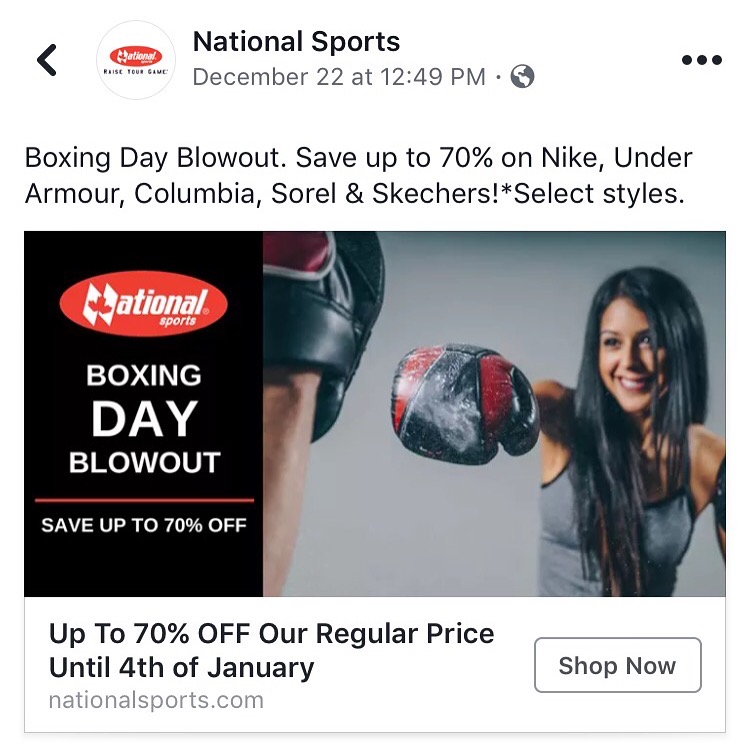 National Sports and Sport Chek- Digital and Print Ads
