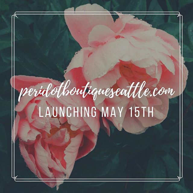 We are very excited to announce that www.peridotboutiqueseattle.com will be launching on ✨May 15th!✨ Thank you for your patience and support through the past several months! The wait is almost over!! 😍  In the meantime, if you haven't already, head to our website (linked in our bio) and sign up for our newsletter and receive $10 off your first purchase! 💌