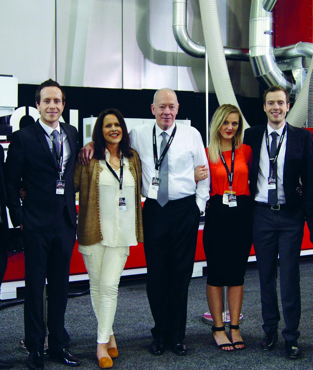(left to right) Luke Sellman, Jennie Sellman, Geoff Sellman, Serrin McCallum, Kyle Sellman.