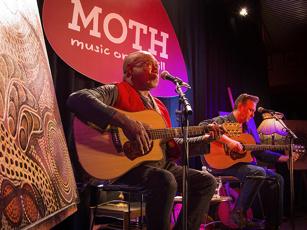 Archie Roach performs at MOTH, which has been nominated for a Best Regional Venue award in The Age Music Victoria Awards.